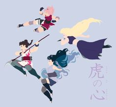Tenten, Sakura, Hinata and Ino ❤