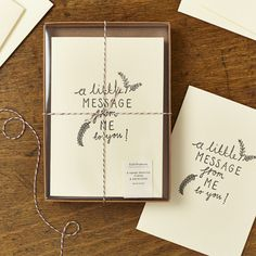 Image of Box set of 8 Little Message Cards