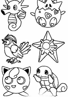 Pokemon coloring pages of Team