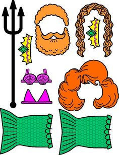 MakingFriends Mermaid Paper Doll Friends Tails, bikini tops, crowns, hairstyles and a trident turn your friends into mythical sea creatures.