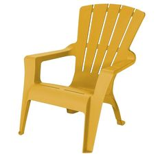 US Leisure Adirondack Cornbread Patio Chair-212557 - The Home Depot - $18 each.  Get two of these to add to the new gravel patio in the front yard.