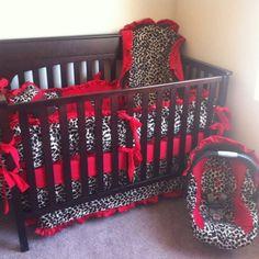 Cheetah Crib & CarSeat