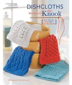 LA5585 Dishcloths- http://www.maggiescrochet.com/dishcloths-p-1893.html#.UVmhgleNpZ0 #crochet #pattern #kitchen #dishcloth #knooking