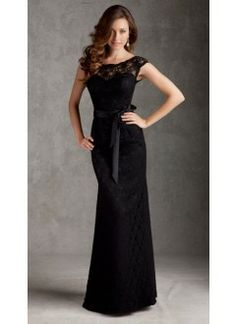 Wedding Dresses, Bridesmaid Dresses, Prom Dresses and Bridal Dresses Mori Lee Bridesmaid Dresses - Style 696 - Mori Lee Bridesmaid Dresses, Spring Style 696 Lace floor length gown with Satin Tie Sash shown in Black. Mori Lee Bridesmaid Dresses, Lace Bridesmaids, Black Lace Bridesmaid Dress, Lace Dresses, Pretty Dresses, Prom Dresses, Dress Prom, Dresses 2014, Lace Gowns