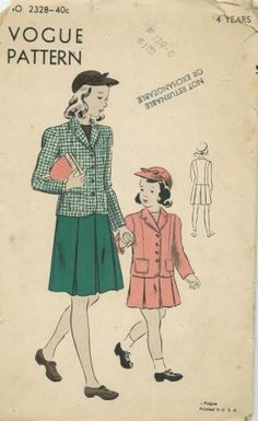Vogue 2328 C - Vintage Sewing Patterns