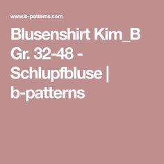 Blusenshirt Kim_B Gr. 32-48 - Schlupfbluse | b-patterns