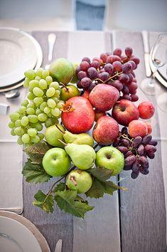 boho farm wedding - fruit centrepiece   Carmen Visser #wedding