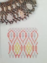 Resultado de imagen para patrones de collares en mostacillas ruso