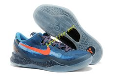 the latest b9052 1ae4a Midnight Navy Orange Blue Kobe 8 555035 401 Jordan Shoes For Women, Cheap  Jordan Shoes