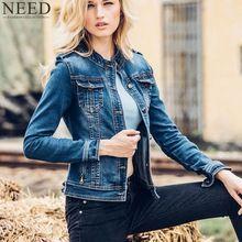 2017 Autumn Women Jacket and Coat O-Neck Denim Jacket For Women Jeans Jacket High Quality(China (Mainland))