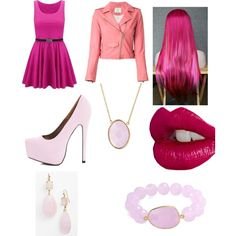 A fashion look from April 2015 featuring colorblock dress, leather moto jacket and suede pumps. Browse and shop related looks. Girly Girl Outfits, Colorblock Dress, Suede Pumps, Moto Jacket, Color Blocking, Fashion Looks, Pink, Leather, Jackets