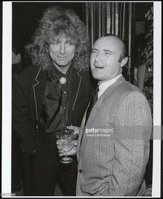 Robert Plant and Phil Collins