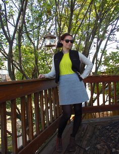 easy DIYed jacket - cut sleeves from a sweatshirt and sew onto vest