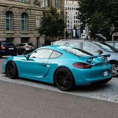 Light Blue #Porsche Cayman GT4 • Follow @bmw.wars @bmw.wars @bmw.wars @bmw.wars - pic by @itscarsome
