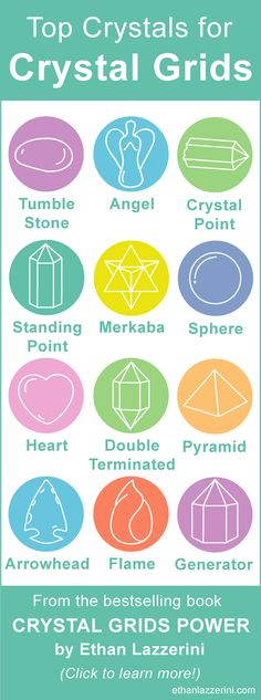 Top Crystals for Crystal Grids. Crystal Points, Spheres, Generators, Angels, Tubles Stones for Gridding and Crystal Healing...