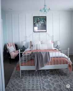 We loved making over Tessa's bedroom. We started by picking out this sweet blush velvet bedding and went from there. What's your favorite part. Shop your screenshot of this pic with the LIKEtoKNOW.it shopping app #LTKhome #LTKunder100 #LTKkids @liketoknow.it #liketkit @liketoknow.it.home