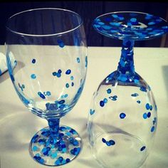 Acrylic hand painted glasses