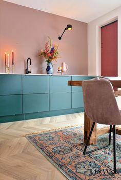 Ikea Kitchen, Kitchen Interior, Modern Interior, Interior Architecture, Kitchen Decor, Kitchen Design, Interior Design, Beautiful Interiors, Colorful Interiors