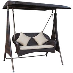 Glebe 2 Seat Wicker Swing - Stratco Store  *Prices may vary depending on location within Australia.