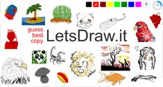 Guess and Draw, Drawing contest, Pictionary, Copy picture - online drawing games where you can compare your skill with others. Svg Animation, Animation Creator, Drawing Games, Drawing Tools, Virtual Games For Kids, Pictionary, Online Fun, Online Contest, Online Drawing