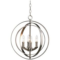 "Equinox Collection Silver 16"" Wide Pendant Light"