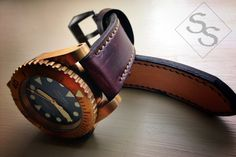 leather watch band from SNPR Strap