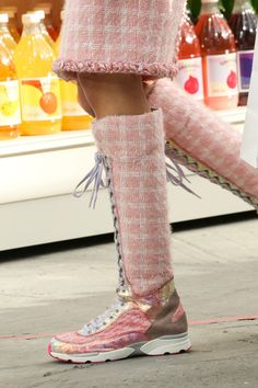 Chanel | Fall 2014 Ready-to-Wear Collection |Style.com, Paris, long sneaker Chanel
