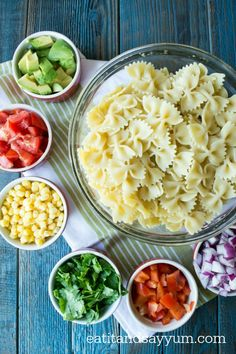 Tex-Mex Pasta Salad has all your favorite Tex-Mex flavors and makes a great summer side dish Healthy Style, Summer Side Dishes, Tex Mex, Fresh Vegetables, Vinaigrette, Pasta Salad, Macaroni And Cheese, Homemade, Baking
