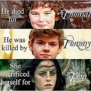 The three main deaths and how their deaths were releated to thomas