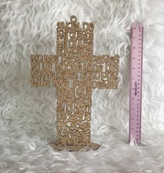 Angel de la guarda Cross laser cut, Angel guardian prayer, wooden hanging cross, Baptism, Christening centerpiece, Communion centerpiece by BetweenHandsCrafts on Etsy https://www.etsy.com/listing/498838902/angel-de-la-guarda-cross-laser-cut-angel