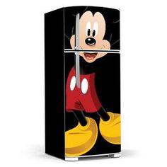 Adesivo para Geladeira Mickey … Cozinha Do Mickey Mouse, Mickey Mouse House, Mickey Mouse Kitchen, Mickey Minnie Mouse, Disney Kitchen Decor, Disney Home Decor, Paint Refrigerator, Refrigerator Wraps, Fridge Makeover
