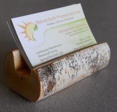 This would go ADORABLY with my birch baskets on my desk at work!      Birch Branch Business Card Holder. $10.00, via Etsy.