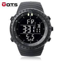 #DealOfTheDay #BestPrice OTS Luxury Brand Military Digital Watch Men Sports Watches 50M Waterproof Swimming Outdoor Climbing Wristwatch…