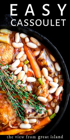 My Easy Cassoulet is a pared down version of the classic French dish and it's perfect for laid back entertaining or a romantic dinner for two! French Cassoulet Recipe, Cassoulet Recipe Easy, Famous French Dishes, Classic French Dishes, French Meal, French Food, French Cooking Recipes, Easy Dinner Recipes, Dinner Ideas
