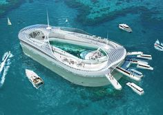 Hydropolisí embraces the concept of submarine luxury hotels situated offshore near exclusive coastal metropolises. The first such project will be realized in China Yacht Design, In China, Hotel Dubai, Floating Architecture, Floating House, Hotels, Yacht Boat, Super Yachts, Luxury Yachts