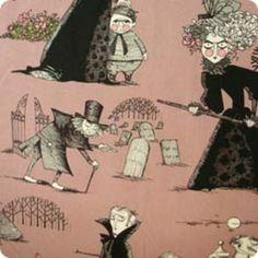 Alexander Henry House Designer - Ghastlies - The Ghastlies in Mauve