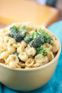 Creamy Shells and Cheese with Chicken and Broccoli