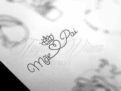 Tattoo Pai E Mae, Tattoo Oma, P Tattoo, Tattoo Script, Piercing Tattoo, Mom Dad Tattoos, Family Tattoos, Name Tattoos, Small Tattoos