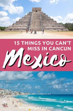 Cancun Vacation Guide | 15 of the best things to do in Cancun, Mexico. Known for its beaches, numerous all inclusive resorts and nightlife, plan the ultimate itinerary to this tropical destination. Everything you need to know from best restaurants to day trips and beaches. | Getting Stamped - Couple #Travel & #Photography #Blog | #Cancun #Mexico #CancunVacation | what to do in Cancun | Cancun beach