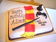 Simple Easy Harry Potter Birthday Cake - Happy Birthday Cake Design (diy birthday cake for boys) Harry Potter Birthday Cake, Harry Potter Bday, Diy Birthday Cake, Happy Birthday Cakes, Birthday Ideas, Themed Cakes, Easy, Cake Ideas, Cake Decorating