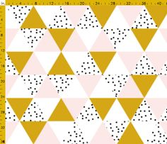 Spoonflower Triangles Print Fabric Ideas for custom orders