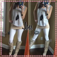 Joes Sporty Sunday, run around like crazy as I do on weekends? Well let's do it with some momma style and this joes light grey T. I could live in these tops and I truly do while dragging my kids around daily feeling fabulous. Hardly touched washed once...a steal! Joes Tops Tees - Short Sleeve