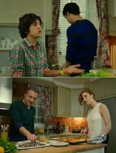 Family in the kitchen  Suzan: Mr. Selim, sink it in eggs right away take it out and put it a little in the flour.  Selim: I am doing that anyways.  Suzan: If you want you can Selim: Dear Suzan, you have already burnt your hand. Stay away. It will hurt again Mert: Yes Suzi. You're like commander-in-chief to us.Pleas, get out of the kitchen. We will continue as we know. Ender: Dear Suzan, you better leave.  Suzan: I understood, you're kicking me out. I am going right away. Mr. Selim don't let…