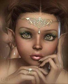 "On the fictional world of Aeld, I have an army of characters known as ""Fey."" I imagine that this wide-eyed beauty would be the perfect Dryad or ""Tree Fairy"". (Characters from Guardians of Aeld, a YA Fantasy Fiction series by Adrienne deWolfe) http://MagicMayhemBlog.com"