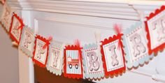 Happy Birthday Vintage Red & Blue Firetruck by DreamPartyPaperie, $28.00