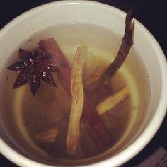 Evil Witches Brew? No, just some tea made from ginger, cinnamon, aniseed & liquorice #tea #homemade #herbal #wiccan