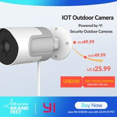 YI loT Outdoor IP Camera Full HD 1080p SD Card Security Price: 41.06 & FREE Shipping #allgadgetdealz Security Surveillance, Security Camera, Smartphone, Outdoor Camera, View Video, Noise Reduction, Ip Camera, Hd 1080p, Sd Card