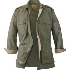 I'm a big fan of Cabella's Safari jackets — I'm on my 3rd one. I look like a foreign correspondent for a newspaper in the 40s. The pockets are nice and big.