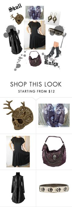 """Skull Rules"" by oldsowell ❤ liked on Polyvore featuring Alexander McQueen"
