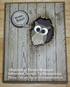Stampin Up Hardwood stamp and owl